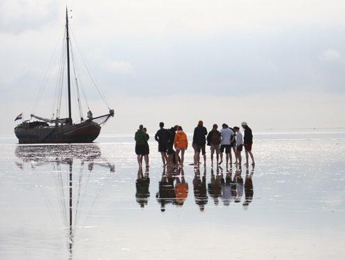 Mitsegeln und Trockenfallen auf dem Wattenmeer