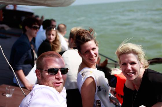 Mittag segeln auf dem IJsselmeer und Markermeer